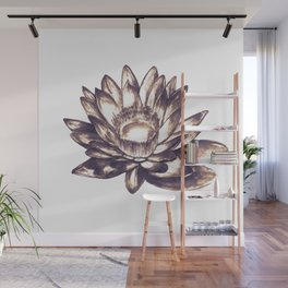 Lilly loto flower draw Wall Mural