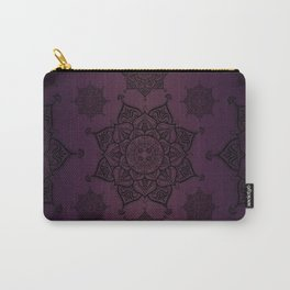 Violet & Black Mandalas Carry-All Pouch
