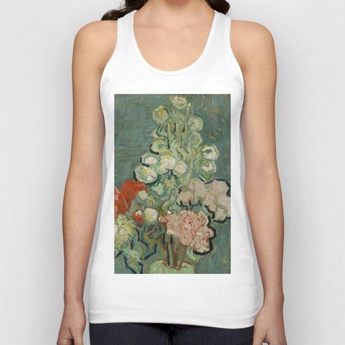 """Vincent Van Gogh """"Vase of Flowers"""" Unisex Tanktop"""