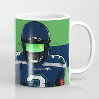 seahawks Mugs featuring SB L Seattle  by Akyanyme