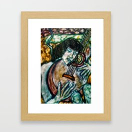 Music, Her World Framed Art Print