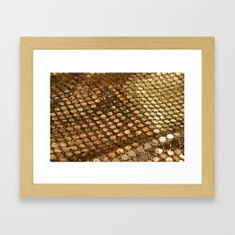Shiny glitter #2 #gold #decor #art #society6 Framed Art Print