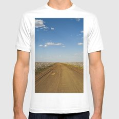 Cotton Fields in Brazil MEDIUM Mens Fitted Tee White