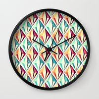 diamonds Wall Clocks featuring Diamonds by VessDSign