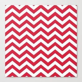 Red Chevron Pattern. Colorful zig zag stripe desig Canvas Print