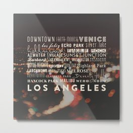 LA Neighborhoods print Metal Print