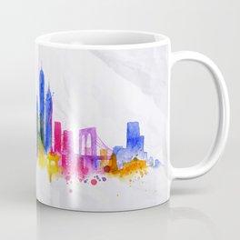 Silhouette overlay city New york Coffee Mug
