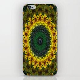 Large Yellow Wildflower Kaleidoscope Art 4 iPhone Skin