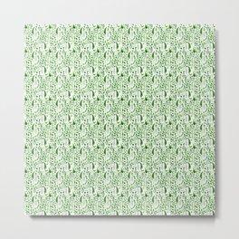 Flora and Fauna seamless pattern Metal Print