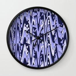 Abstract Iceberg Pattern Wall Clock