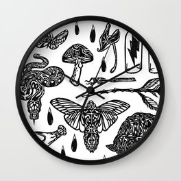 Icon Black and White Wall Clock