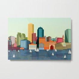 City Boston Metal Print