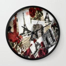 Postcards from Paris Wall Clock