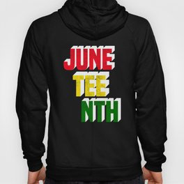 Juneteenth June Colors Black African American Flag Pride print Hoody