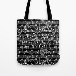 Hand Written Sheet Music // Black Tote Bag