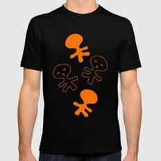 Aliens-Orange Mens Fitted Tee Black MEDIUM