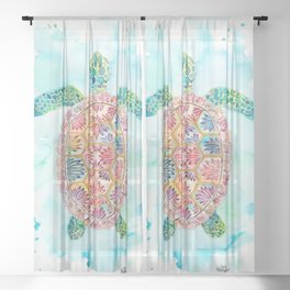 Sea Turtle Sheer Curtain
