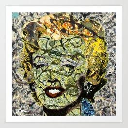 MARYLIN MONROE POLLOCK Art Print