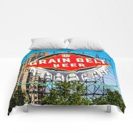 Grain Belt Beer Sign Comforters