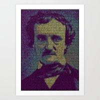 Edgar Allan Poe. Art Print