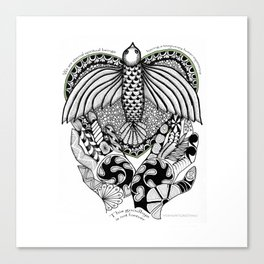 This goodbye is not forever Sympathy  - Zentangle Illustration Canvas Print