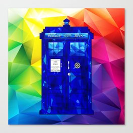 Tardis Abstract Triangle Canvas Print