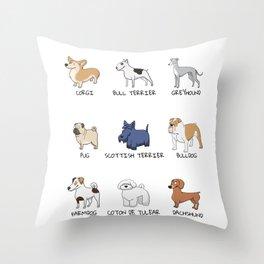 Doggos Throw Pillow