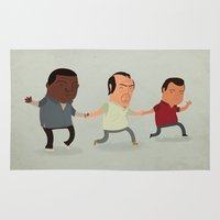 gta Area & Throw Rugs featuring GTA Friends by Jimmy Rogers