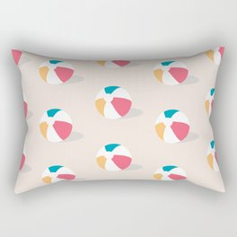Summertime Beach Ball Rectangular Pillow