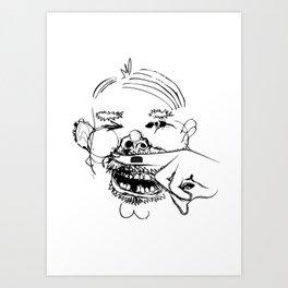 This man is a joke Art Print
