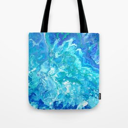 Aqua Ocean Blue Tote Bag