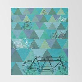 Tour de'Triangle Throw Blanket