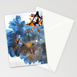 SPRING BLOSSOMS - IN BLUE Stationery Cards