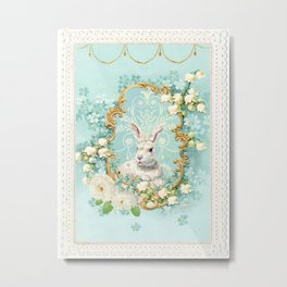 The White Rabbit Metal Print