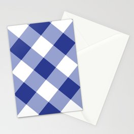 Gingham - Navy Stationery Cards