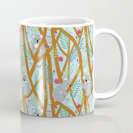 Koala bear pattern light blue Coffee Mug