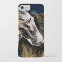 greyhound iPhone & iPod Cases featuring Greyhound Dog by BaconFactory