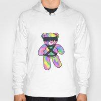 bondage Hoodies featuring Rainbow Bondage Bear by clevernessofyou
