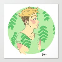 cassandra jean Canvas Prints featuring Jean by Lena Lang