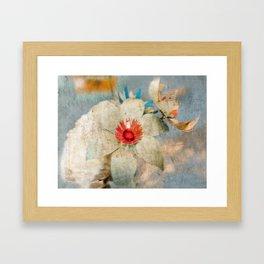 Gentle Paper Flowers Framed Art Print