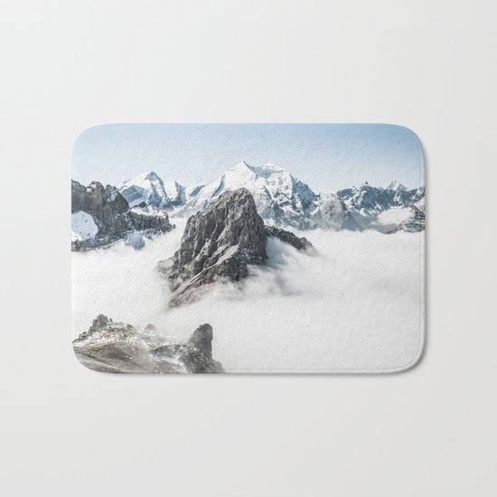 With My Head Above The Clouds Bath Mat
