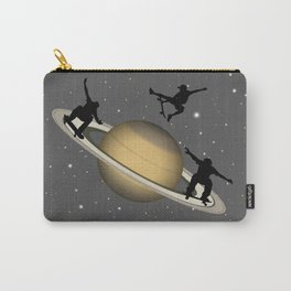 Skateboarding Saturn Carry-All Pouch