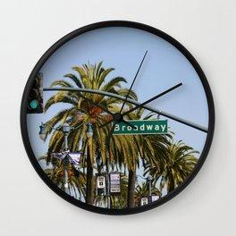 Broadway San Francisco Wall Clock