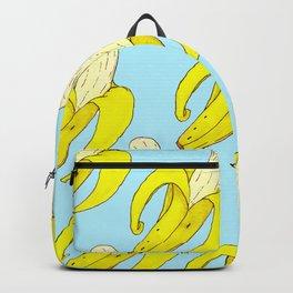 Bananas Print Blue Backpack