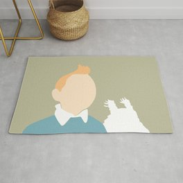 5 minutes Tintin and Snowy Rug