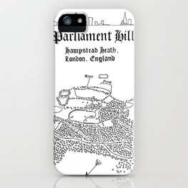 Parliament Hill Cross-Country Course Map iPhone Case