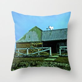 Old candy store. Throw Pillow