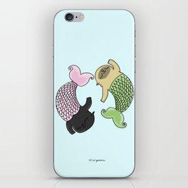 Merpug aka pisces pug! iPhone Skin