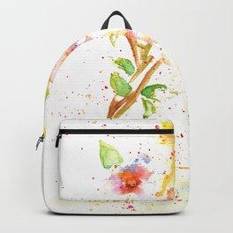 Little Garden Watercolor Backpack