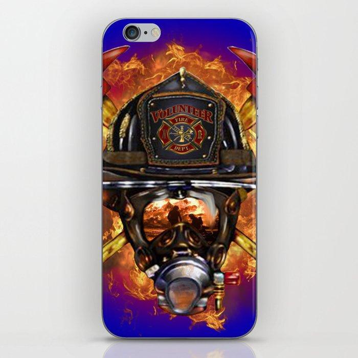 Firefighter rescue volunteer iPhone Skin